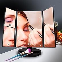 Specchio per Trucco Ingradimento 1X / 2X / 3X, Specchio