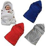 Bembika Newborn Baby Swaddle Blanket Wrap Sleeping Bags Crib Stroller Wrap (White) (0-12 Month)