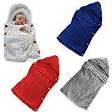 Bembika Newborn Baby Swaddle Blanket Wrap Sleeping Bags Crib Stroller Wrap (RED)