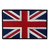 Britische Union Jack England-Flagge Emblem Grossbritannien Bestickter Aufnäher mit Klettverschluss