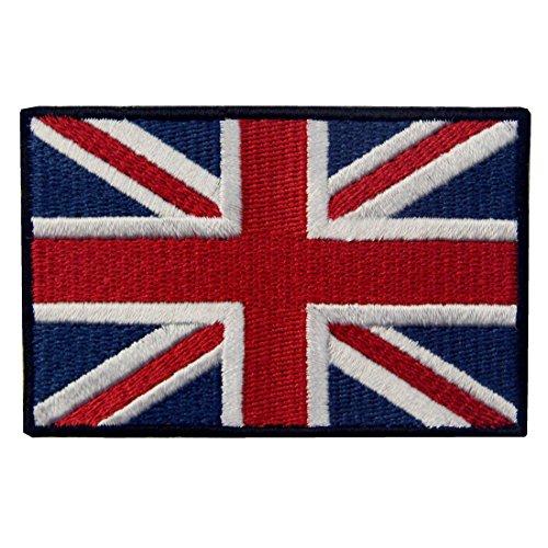 Britische Union Jack England-Flagge Emblem Grossbritannien Bestickter Aufnäher mit Klettverschluss (Die Britische Polizei Kostüm)