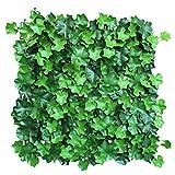 """YNFNGXU Siepe Artificiale Verde Recinzione vegetale Pannello di Protezione della Privacy 20""""x20, Protezione UV Foglie fresche Sfondo Muro Decorazione Interna all'aperto (Color : 03)"""