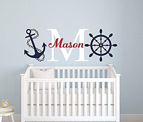 nautical-nome-adesivo-da-parete-nautical-decor-nursery-adesivo-da-parete-ancoraggio-e-volante-nurser