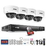 Annke 4CH 1080P PoE HD NVR 1TB Festplatte Videoüberwachung H.264+ Überwachungssystem mit 4 x2.0MP IP Überwachungskameras plus kompatibel mit IP Kamera Onvif Kamera