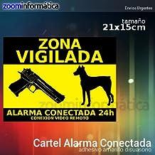 CARTEL ALARMA RIGIDO CONECTADA VIGILANCIA DISUASORIO