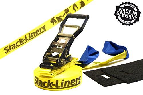 Slack-Liners Set, 15 m lang, 5 cm breit + Baumschutz