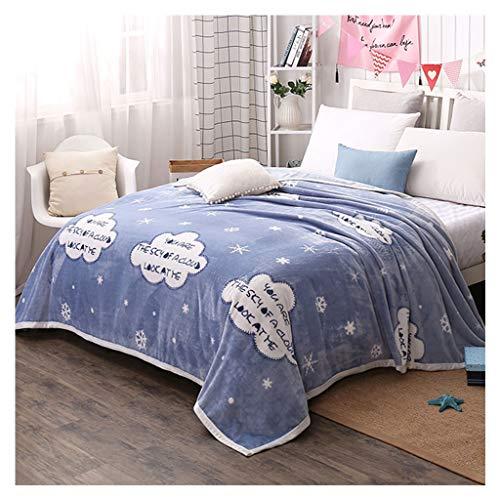 81fc4df356c12 Couvertures Flanelle Doux Fluffy Cosy Flocon De Neige Motif Nap Canapé  Couvertures (Couleur   Bleu