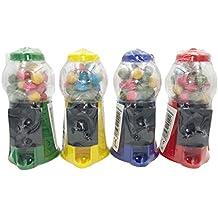 Lote 4 mini-máquinas de chicle con chicles