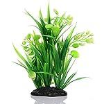 Oshide Artificial Flower Water Plants Aquarium Fish Tank Long Leaf Plastic Decoration Ornament 6