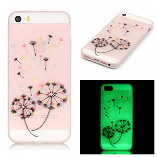 iphone-se-case-with-free-tempered-glass-screen-protector-boxtiir-night-luminous-soft-tpu-cover-slim-