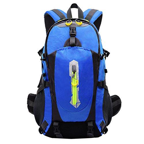 Yy.f40L Im Freien Bergsteigen Taschen Rucksäcke Wandern Camping Mehrzweck-Reisetasche. Größe: 33 * 17 * 46cm. Multicolor Blue