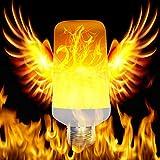 LED-Flammeneffekt-Glühlampe, E26/E27 umgedreht flackernd simulierte Feuer-Birnen-Weinlese-dekorative Beleuchtung 5W für Halloween-Haus/Hotel / Bar-Party-Dekoration(Mit Schwerkraftsensor)
