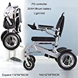 DSFGHE Electric Folding Wheelchair ?Intelligent Automatic Lightweight Elderly 4 Wheel Lithium Battery Power Chair?Dual Mode Aluminium-alloy Disabled People Electric Mobility Scooter