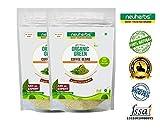 #3: Neuherbs 100% Organic Green Coffee Powder With Decaffeinated & Unroasted Arabica Chlorogenic Acid (GCA/CGA) Coffee Powder 200g (pack of 2)