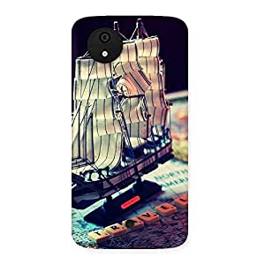 Enticing Travel Ship Map Multicolor Back Case Cover for Micromax Canvas A1