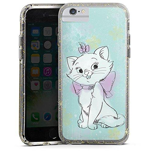 Apple iPhone X Bumper Hülle Bumper Case Glitzer Hülle Disney Aristocats Marie Merchandising Pour Supporters Bumper Case Glitzer gold