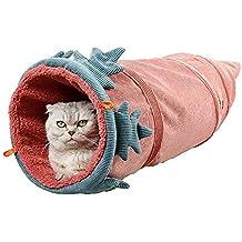 MOMAMO Juguetes para Gatos Tunel Gato, Tunnel Juguete Plegable para Gato con 1Cuevas para pequeños