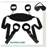 Cksohot® SM Bondage Set BDSM Fesselset SM Sexspielzeug Extrem Betten Fesseln mit Handschellen mit Augenmaske für Paare Gays, für Einsteiger und Erfahr - 2