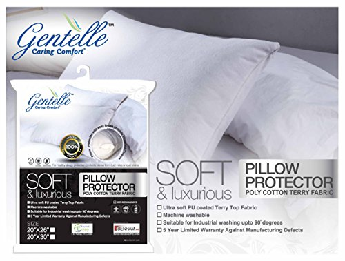 allergy-bedbug-proof-waterproof-pillow-protector-zippered-style-king