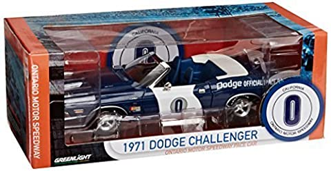 DODGE CHALLENGER 1971 ONTARIO MOTOR SPEEDWAY PACE CAR 1/18 SCALE LIMITED EDITION DIECAST MODEL by GREENLIGHT