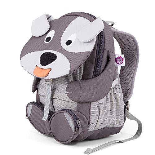 Affenzahn Kinderrucksack für 3-5 Jährige im Kindergarten - Henri Hund - Grau