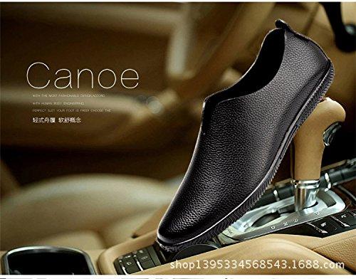 Gaorui Hommes Decontractes Mode Anglaises Mocassins Slip on Chaussures de Conduite Noir