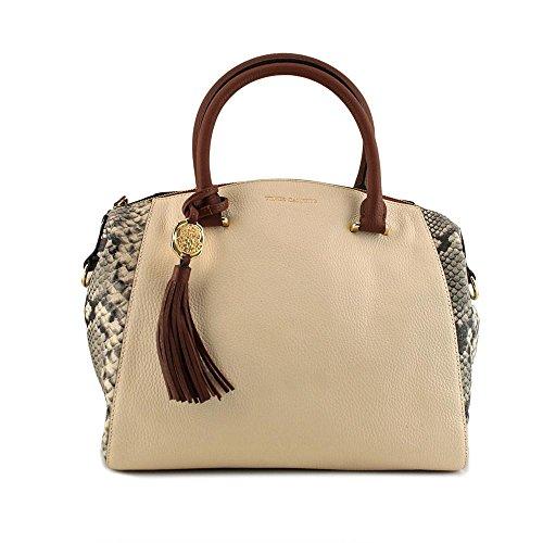 vince-camuto-lulie-satchel-damen-natur-schultertaschen