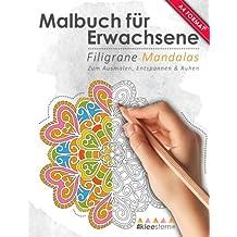 Malbuch für Erwachsene: Filigrane Mandalas (Kleestern®, A4 Format, 40+ Motive) (A4 Malbuch für Erwachsene)