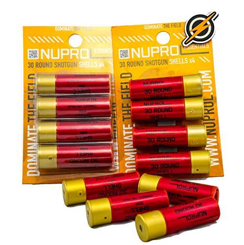 Primer y único Airsoft Airsoft Shotgun Paquete Triple de 30 Cartuchos Redondos/Cargador/Cartage x 12 y Parche