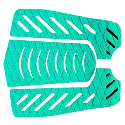 (3er Set) Surfboard Traction Pad Wellenreiter Footpad rutschfest - Grün