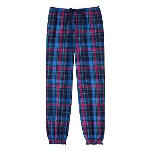 Schiesser Mädchen Schlafanzughose Web Pants, Gr. 152, Blau (dunkelblau 803)