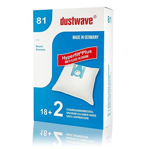 Confezione Risparmio–20Sacchetti per aspirapolvere adatto per Bosch BSGL32225aspirapolvere GL 30/Wave marchi Sacchetti per aspirapolvere/Made In Germany + con 2Micro Filtro