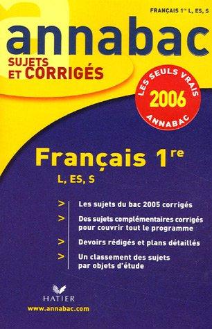 Français 1e L, ES, S