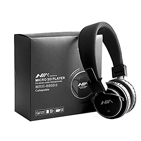 Nice Sturdy Micro SD TF Card Headset Headphone USB Audio MP3 Music Player FM Radio (Black) can also be use with Aux cable for Apple iPad4 iPhone 5,Ipod All Mp3 Mp4 Players Sony Creative Samsung, All Laptop Pc And All Devices With A Standard 3.5Mm Jack Plug