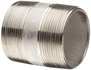 """Acier inoxydable 304, 304L pipe fitting, tétons, schedule 40 seamless, 1/8 x 1/2 """"mâle unique n'importe quel accessoire nPT de 1/8, eisenwarenhandlung quincaillerie"""