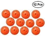 #6: YeahiBaby 12PCS Perforated Plastic Play Balls Hollow Golf Practice Training Sports Balls (Orange)