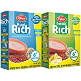 Manna Infant Foods Pack of 2 Porridge/Cereal with Sprouted Grains (Ragi Rich and Banana Rich)