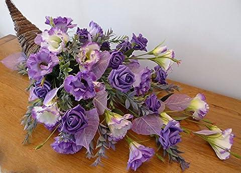 Mother's Day Artificial Flower Arrangement Horn of Plenty