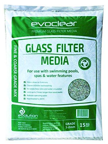 Verre Filtrant par Evoclear. Fabriqué à Partir de Verre 100% Recyclé. Sacs de 15kg de 1,00-2,00 mm.