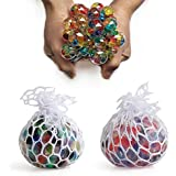 AK Squeeze Squishy Stress Relief Mesh Balls Set Of 2