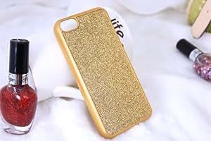Coque rigide pour iPhone 5C Motif paillettes Doré