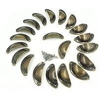 sunreek & # 8482; 20pcs Metal Armarios de Cocina Muebles Armario Mango de Medicina Vintage Tiradores de pomos para cajones (4unidades), color Bronce Envejecido (longitud: 82mm, ancho: 32mm)
