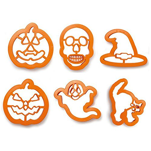 Zeus Party Kit 6 stampini tagliapasta Halloween - Zucca Strega Fantasma  Teschio Gatto per i Tuoi bd63445d9eaa