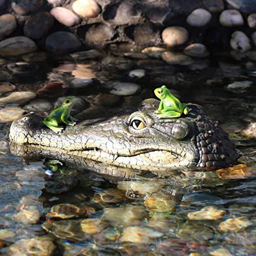 Alligator Pond (Alligator Head Decoy & Pond Float 13 Zoll Riesen realistischer Look Schwimmende Alligator Decoy Fun Outdoor-Wasser schwimmenden Krokodilkopf Art Decor treibt Enten für Pool, Teich und Garten)