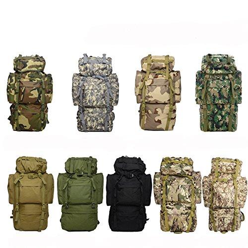 65L Sporting Rucksack Large Capacity Tasche Für Long Trip Wandern Camping Klettern Military Rucksack Neun Farben erhältlich desert number