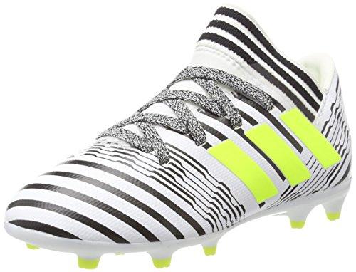 adidas Unisex-Kinder NEMEZIZ 17.3 FG Fußballschuhe, Gelb (Footwear White/Solar Yellow/Core Black), 31 EU