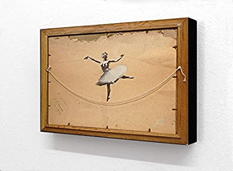 Banksy Ballerina Back Of Painting Horizontal 6 x 4 Inches