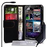 Yousave Accessories BL-BB01-Z216C Etui portefeuille en PU/cuir avec Chargeur allume-cigare pour BlackBerry Z30 Noir