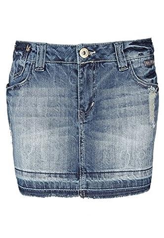 Fresh Made Damen Jeansrock mini   Jeans Minirock aus hochwertigem