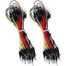130 Piezas Cable de Alambre de Jumper de Breadboard Flexible sin Soldadura Línea 1P a 1P Macho a Macho para Protoboard Arduino